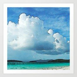 Caribbean Cumulonimbus Clouds Art Print