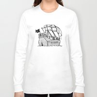 pirate ship Long Sleeve T-shirts featuring Pirate Ship by Addison Karl