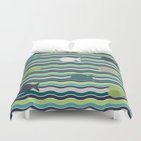 under the sea Duvet Covers featuring Under The Sea by LLL Creations