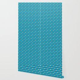 Pattern Cube Blue Wallpaper