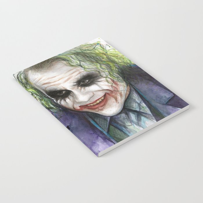 Joker Why So Serious Watercolor Notebook