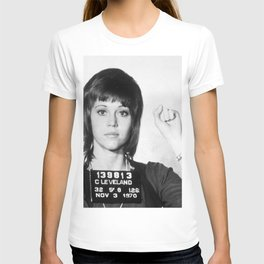 Jane Fonda Mug Shot Vertical T-shirt