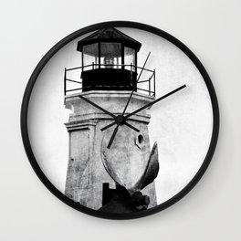 B&W Lighthouse Wall Clock