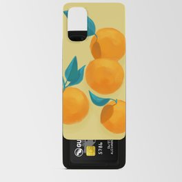 Oranges on yellow Android Card Case