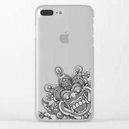Happy Devil Clear iPhone Case
