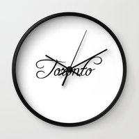 toronto Wall Clocks featuring Toronto by Blocks & Boroughs