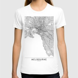 Melbourne White Map T-shirt