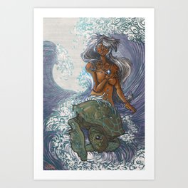 Ura and The Turtle Art Print