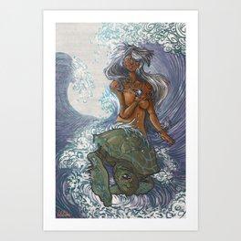 Ura and The Turtle Art Print