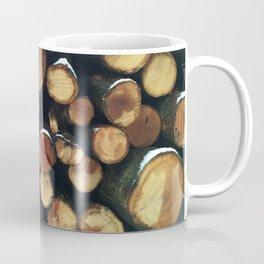Pile of felled tree trunks Coffee Mug