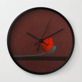 Coquelicot oreiller 2 Wall Clock