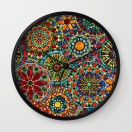 Cheerful Circles Wall Clock