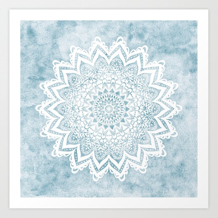 LIGHT BLUE MANDALA SAVANAH Kunstdrucke