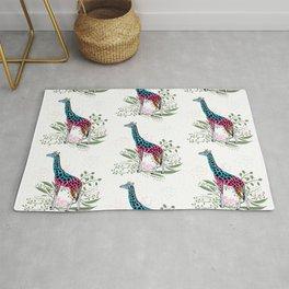 Happy Spring Giraffe Pattern Rug
