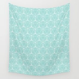 Icosahedron Seafoam Wall Tapestry