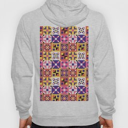 Maroccan tiles pattern with pink and purple no3 Hoody