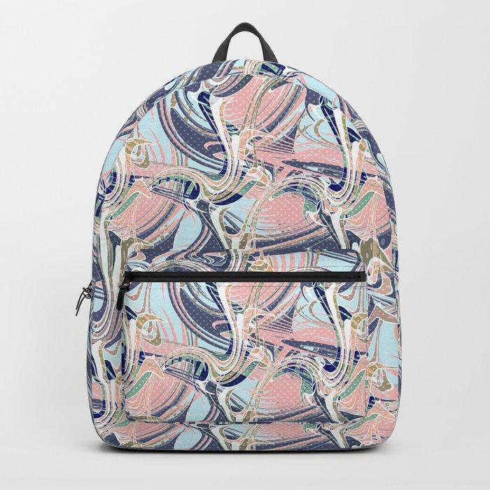 Painted digital splashes design print Backpack