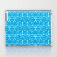 Icosahedron Pattern Bright Blue Laptop & iPad Skin