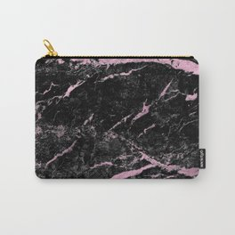 Marble Black Pink - Far Away Carry-All Pouch