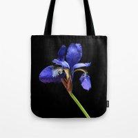 iris Tote Bags featuring Iris by Artemio Studio