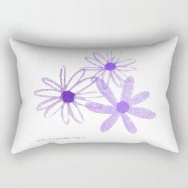 Life is A Garden in Purple Rectangular Pillow