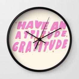 Attitude of Gratitude Wall Clock