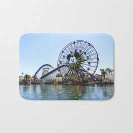 Paradise Pier - Mickey Ferris Wheel (Daytime no.2) Bath Mat