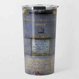 Karl Marx Memorial Travel Mug