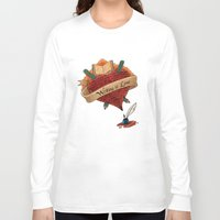 writing Long Sleeve T-shirts featuring Writing is Love by gunberk