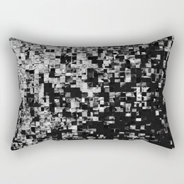 Black and white cubes Rectangular Pillow