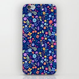 """Cute Floral pattern in the small flower. """"Ditsy print"""". Vintage. iPhone Skin"""