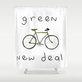 Green New Deal Shower Curtain