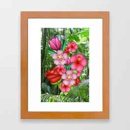 Flower Emoji Framed Art Print