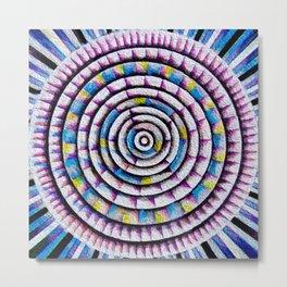 12 Rings of Fibonacci Metal Print