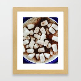 Hot Chocolate With Marshmallows Framed Art Print