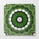 Tropical Green and White Floral Mandala by taiche