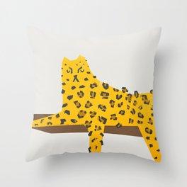 Leopard Lazy Throw Pillow