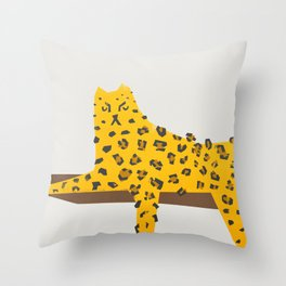Leopard Lazy Throw Pillow