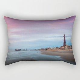 Photo England towers Blackpool, Lancashire beaches Pier Cities Tower Beach Berth Marinas Rectangular Pillow