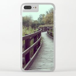 A bridge in the lagoon Clear iPhone Case