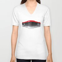 ford V-neck T-shirts featuring Ford Meteor by APO+