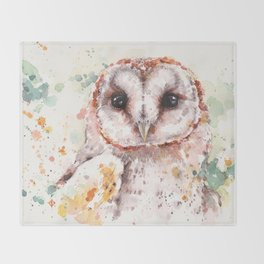 Australian Barn Owl Throw Blanket