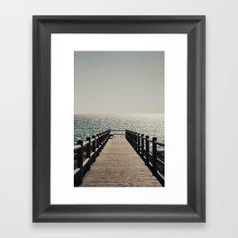 Sunset Walkway Framed Art Print