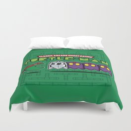 Hero in a Pac-Shell (Raph) Duvet Cover
