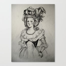 French Sketch II Canvas Print