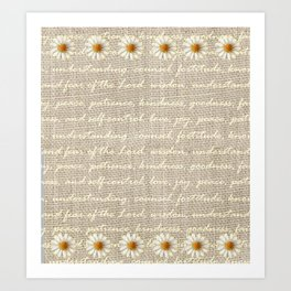 Fruits of the Spirit with Daisy Art Print