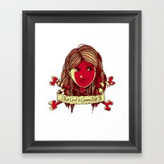 That girl is gonna kill me Framed Art Print
