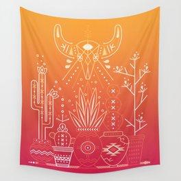 Santa Fe Garden – Orange Sunset Wall Tapestry