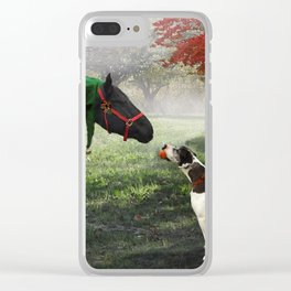 Christmas Friends Clear iPhone Case