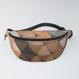 Triangles Brown Gray Fanny Pack